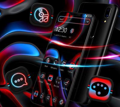 Cool Dark Black Neon Light Theme 💫 poster