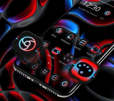 Cool Dark Black Neon Light Theme 💫 screenshot 2