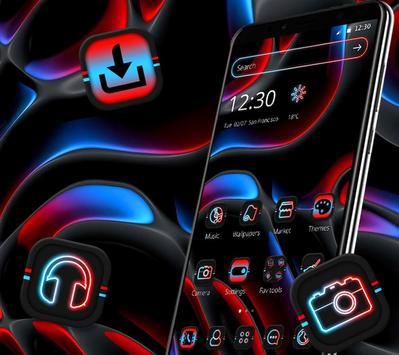 Cool Dark Black Neon Light Theme 💫 screenshot 3