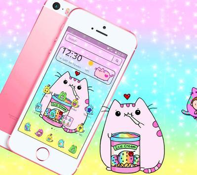 Pusheen Cuteness Cat Cartoon Kawaii Theme 😻 poster
