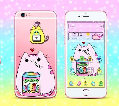 Pusheen Cuteness Cat Cartoon Kawaii Theme 😻 screenshot 2