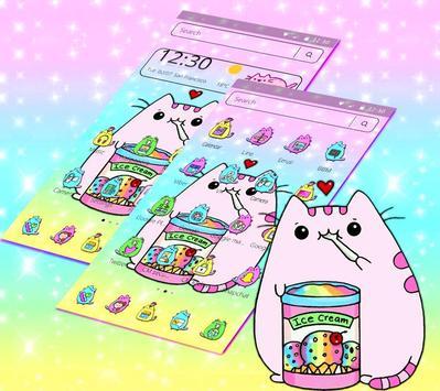 Pusheen Cuteness Cat Cartoon Kawaii Theme 😻 screenshot 3