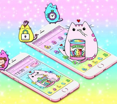 Pusheen Cuteness Cat Cartoon Kawaii Theme 😻 screenshot 5
