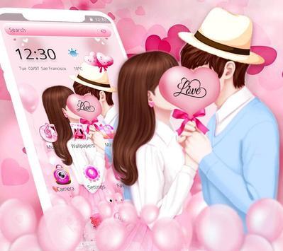 Sweet Romantic Love Couple Theme screenshot 1