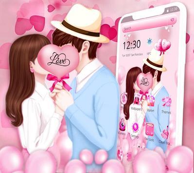 Sweet Romantic Love Couple Theme screenshot 2