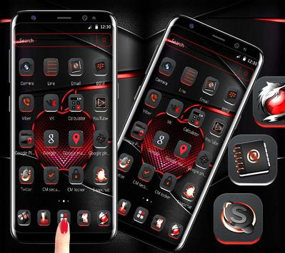 Red Black Apple Dark Launcher Theme 🍎 poster