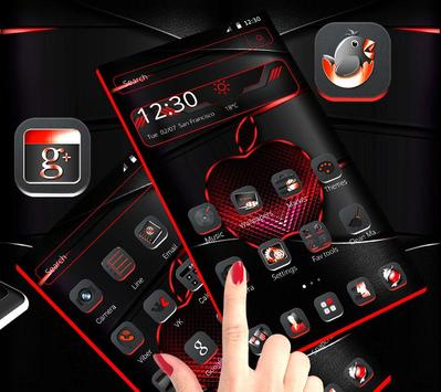 Red Black Apple Dark Launcher Theme 🍎 screenshot 2