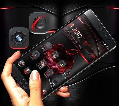 Red Black Apple Dark Launcher Theme 🍎 screenshot 3
