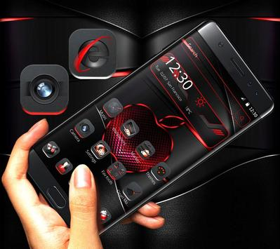 Red Black Apple Dark Launcher Theme 🍎 screenshot 7
