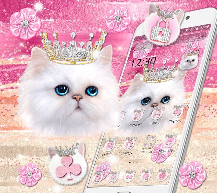 Cute Pink Kitty Cat Shiny Diamond Theme For Android Apk Download