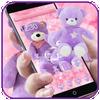 Lavender Teddy Bear Pink Purple Plush Toy Theme アイコン