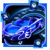 Neon Speed Car Theme icon