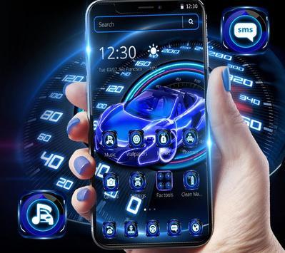Neon Speed Car Theme screenshot 1