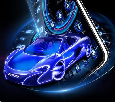 Neon Speed Car Theme screenshot 2