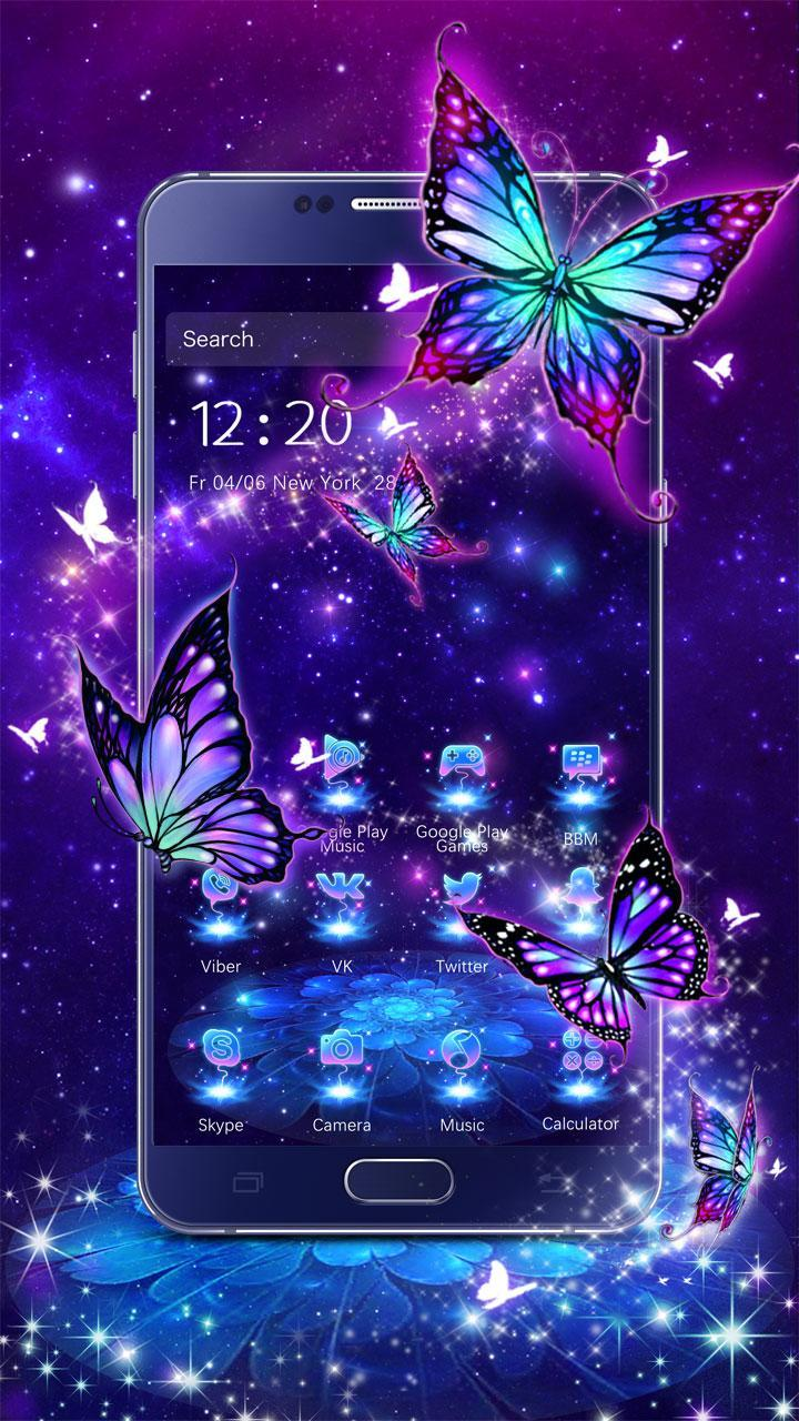 3D Purple Butterfly Theme For Android APK Download
