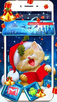 Merry Christmas 3D Theme poster