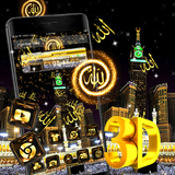 Makka Madina 3D Glass Tech Theme