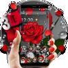 3D Crimson Rose Dew Gravity Theme ícone