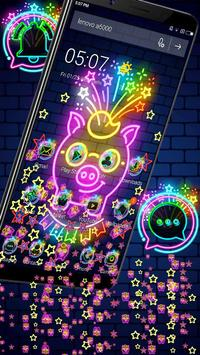Neon Pig Gravity Theme🐷 screenshot 2