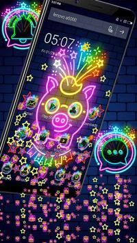 Neon Pig Gravity Theme🐷 screenshot 5