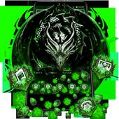 3D Green Metal Dragon Gravity Theme icon