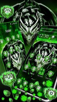 3D Green Metal Dragon Gravity Theme poster