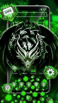 3D Green Metal Dragon Gravity Theme screenshot 1