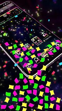 Alluring Colorful Papers Gravity Theme screenshot 1