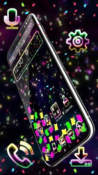 Alluring Colorful Papers Gravity Theme screenshot 2