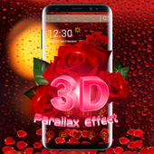 3D Red Rose Parallax Theme icon
