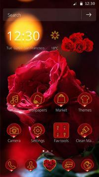 3D Red Rose Parallax Theme screenshot 3