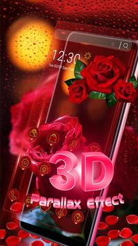 3D Red Rose Parallax Theme poster