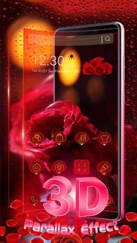 3D Red Rose Parallax Theme screenshot 1