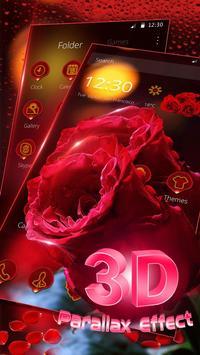 3D Red Rose Parallax Theme screenshot 2