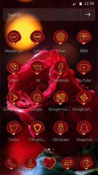 3D Red Rose Parallax Theme screenshot 4