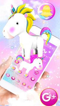 3D Cute Baby Unicorn Launcher Theme screenshot 3