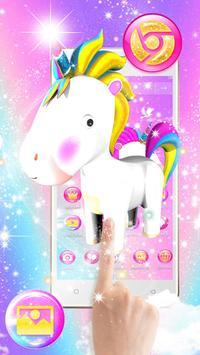 3D Cute Baby Unicorn Launcher Theme screenshot 1