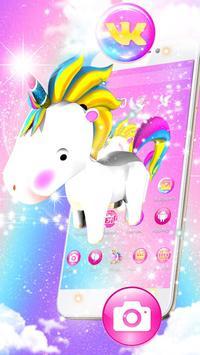 3D Cute Baby Unicorn Launcher Theme screenshot 2