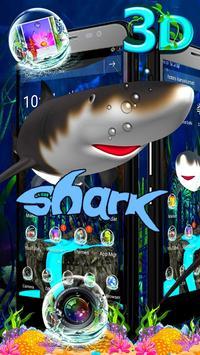 3D Shark Ocean Launcher Theme 🦈 poster