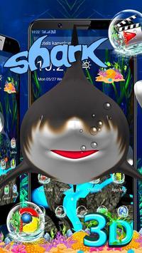 3D Shark Ocean Launcher Theme 🦈 screenshot 1