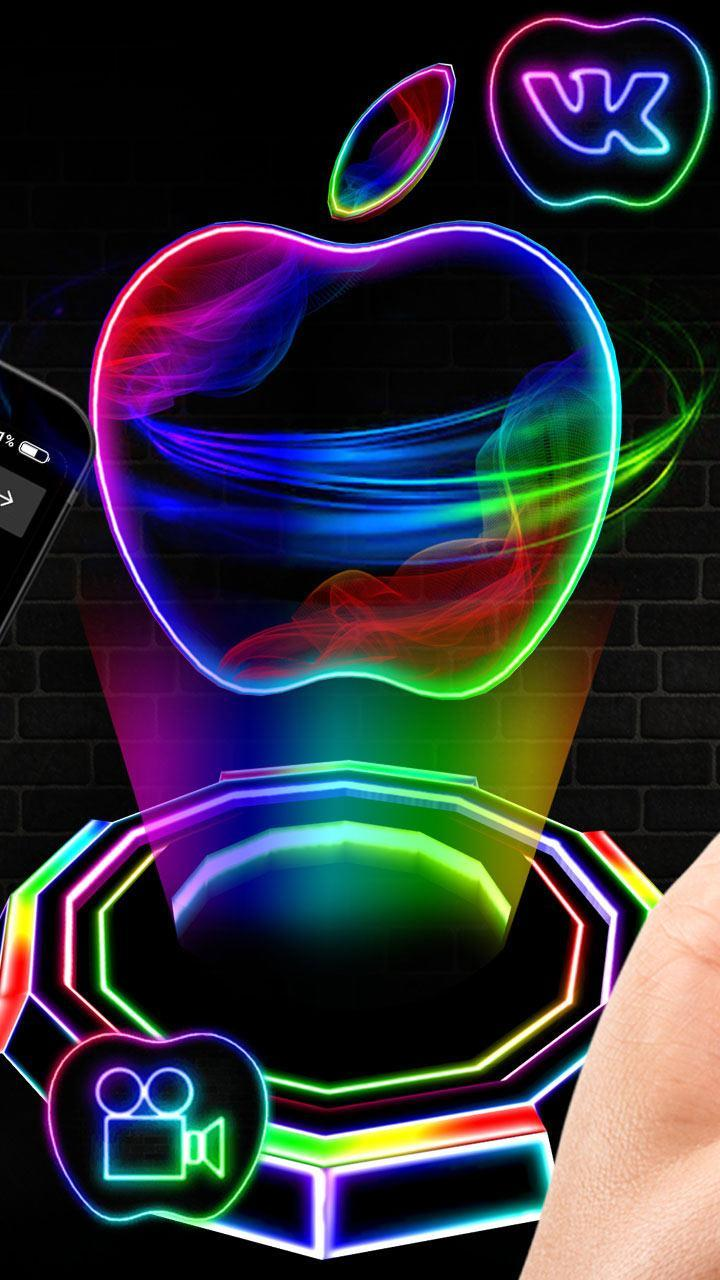 Neon Apple 3d Theme For Android Apk Download