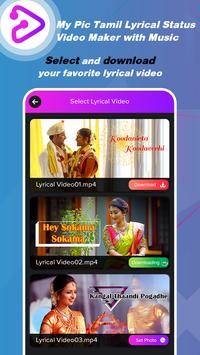 My Pic Tamil Lyrical Status Video Maker with Music poster