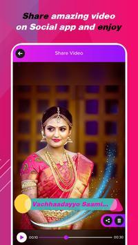 My Pic Telugu Lyrical Status Video Maker withMusic screenshot 3