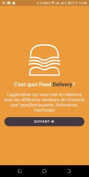 Food delivery poster