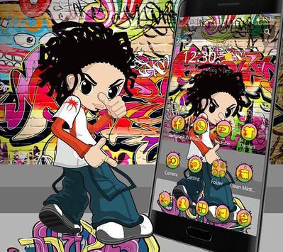 Colorful Cartoon Hiphop Graffiti Theme screenshot 6