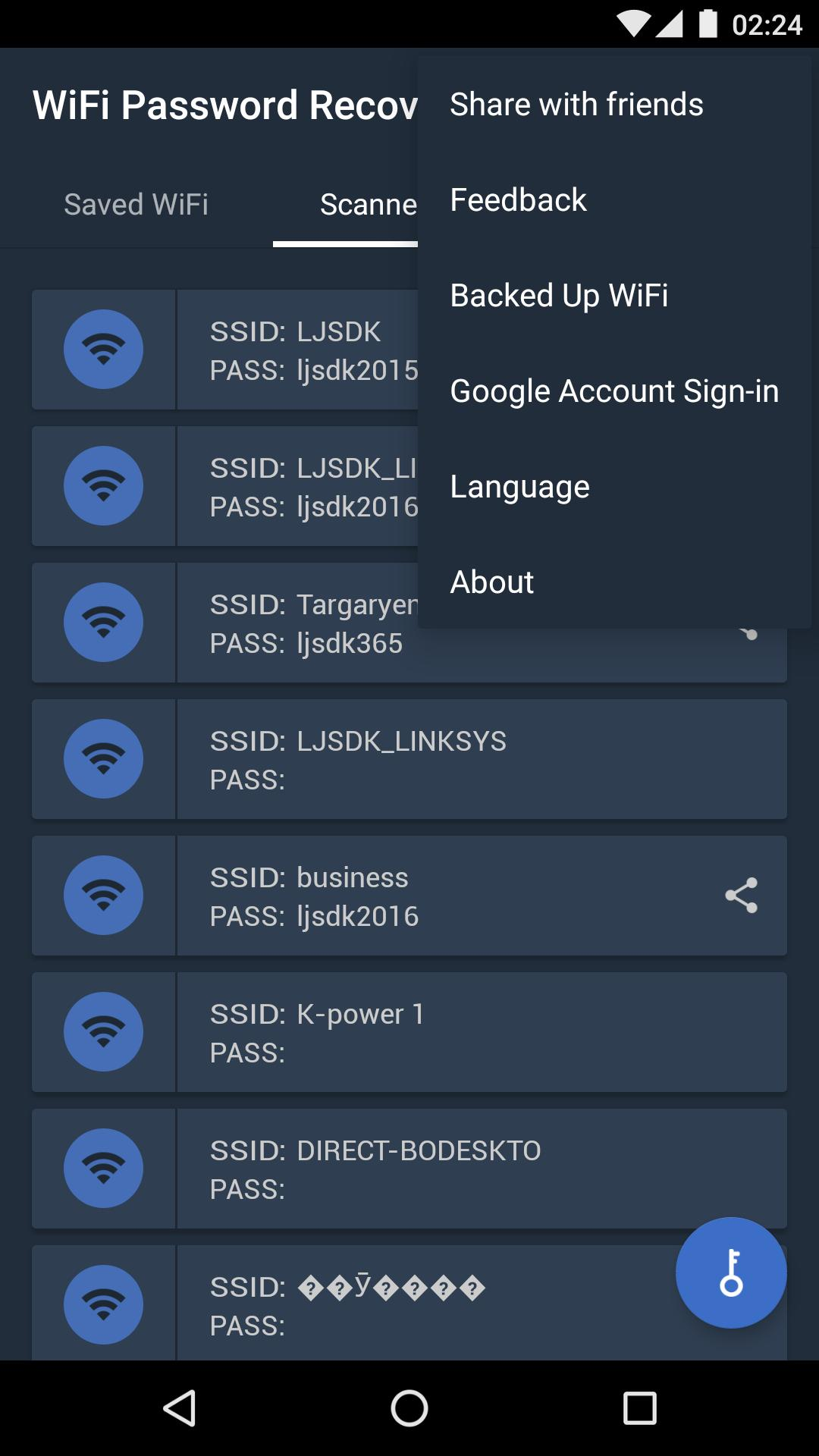 WiFi Password Recovery for Android - APK Download