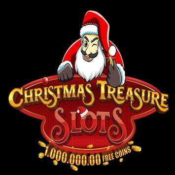 christmas treasure slots poster