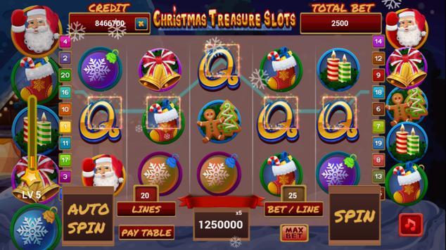 christmas treasure slots screenshot 1
