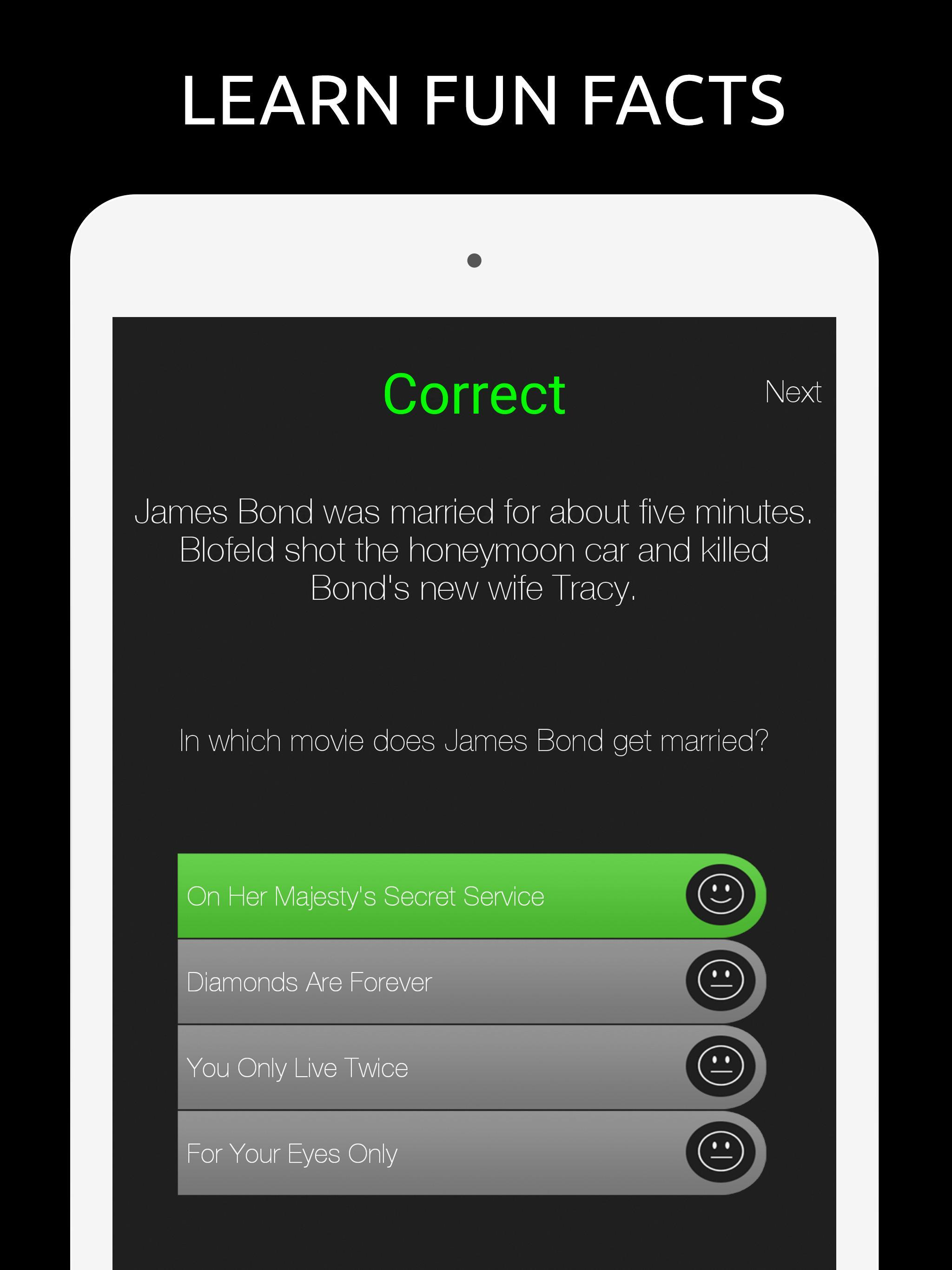 Fan Trivia Quiz for fans of James Bond for Android - APK