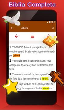Santa Biblia Reina Valera + Español ảnh chụp màn hình 8